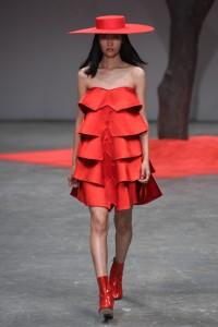 Osman red dress LFW SS16