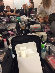 SEAMS Hand cream backstage London fashion Week Joanne Stoker