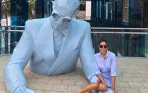 Karen J Gerrard Le Corbusier statue Miami
