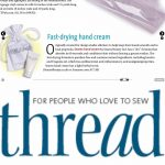 Threads magazine SEAMS Hand Cream