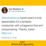 Carl Weathers Review SEAMS Hand cream