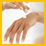 Applying hand cream Shutt
