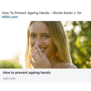 How to prevent ageing hands Karen J.